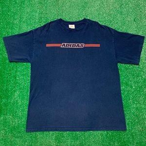 Vintage Shirts - Vintage 90s Adidas Spellout Three Stripes Shirt